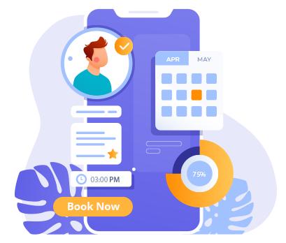 online-booking app banner