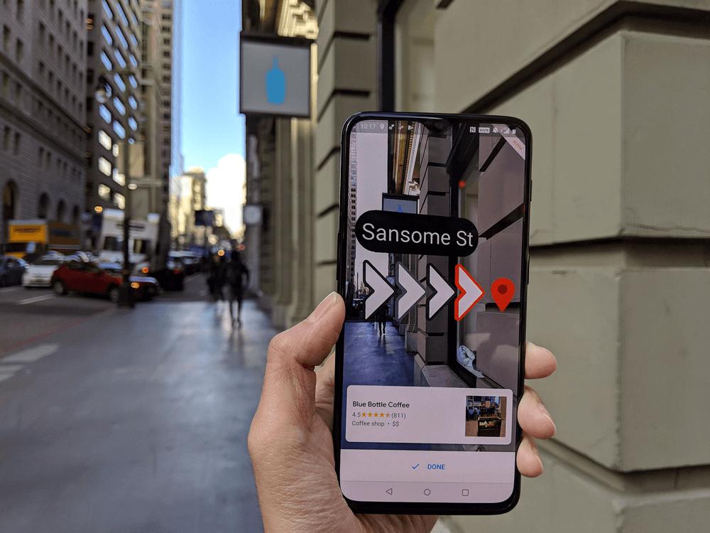 Google maps & AR navigation