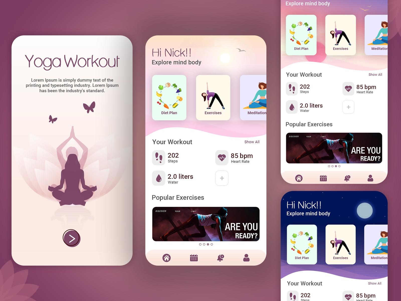Yoga Workout Mobile Application