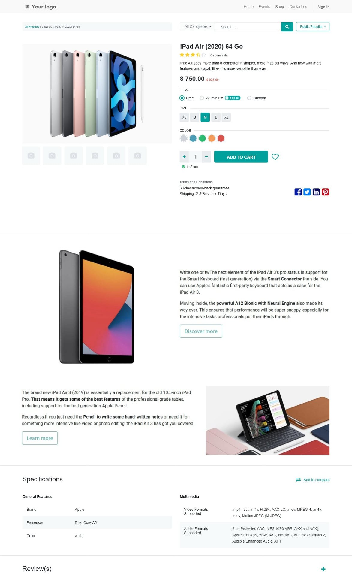 Redesign eCommerce Page